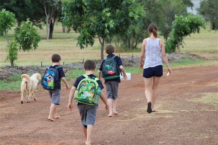 2.5 Cath walking kids to school (Small)