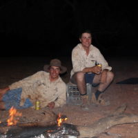 2.1 Camp fire beers - myself and Damo copy
