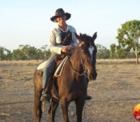 1.1 Myself on Bleachy, in a mustering camp at Vanrook, near Normanton in the Gulf country. copy