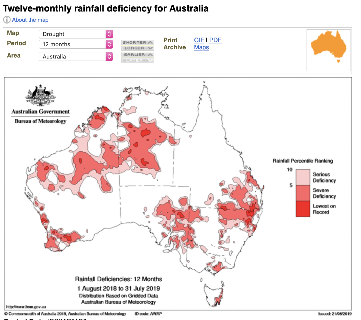 The wet season that never came